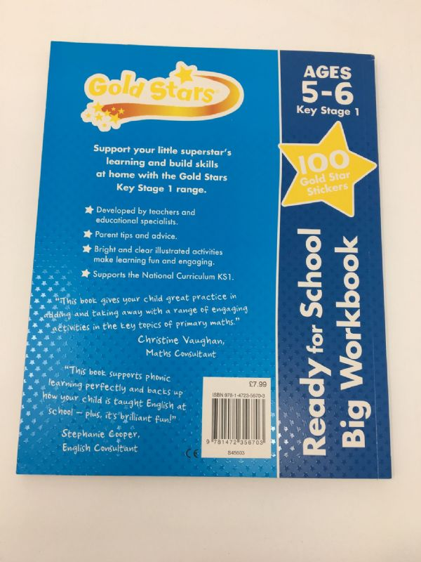 Gold Stars Ready for School Big Workbook Ages 5 - 6